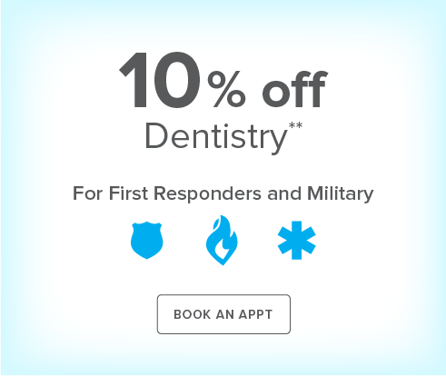 First Responders and Military Discount - Bastrop Modern Dentistry